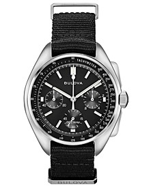 Men's Chronograph Lunar Pilot Archive Series Black Polyester Strap Watch 45mm
