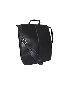 "Royce 17"" Laptop Messenger Bag in Colombian Genuine Leather"