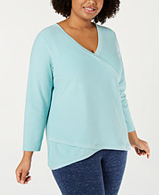 Ideology Plus Size Asymmetrical-Hem Top, Created for Macy's
