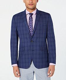 Kenneth Cole Reaction Men's Slim-Fit Blue/Gray Plaid Sport Coat