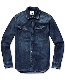 G-Star RAW Men's 3301 Slim-Fit Denim Western Shirt