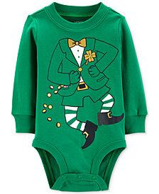Carter's Baby Boys or Baby Girls Leprechaun Graphic Cotton Bodysuit