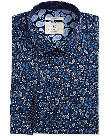 Con.Struct Men's Slim-Fit Performance Stretch Paisley Dress Shirt
