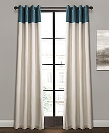 "Milo Colorblock Linen 52"" x 84"" Curtain Set"