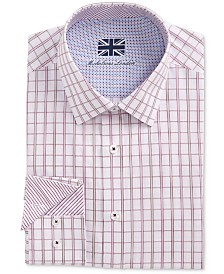 Michelsons of London Men's Slim-Fit Window Pane Dress Shirt