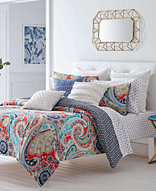Trina Turk Mirage Paisley Fusion Coral Comforter Set, Full/Queen