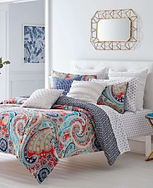 Trina Turk Mirage Paisley Fusion Coral Duvet Set, Full/Queen