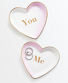 Martha Stewart Collection You & Me Trinket Trays, Set of 2, Created for Macy's