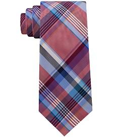 Tommy Hilfiger Men's Barbecue Plaid Silk Tie