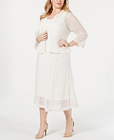 Plus Size Crochet Lace Dress & Jacket