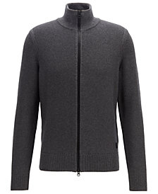 BOSS Men's Full-Zip Knit Jacket