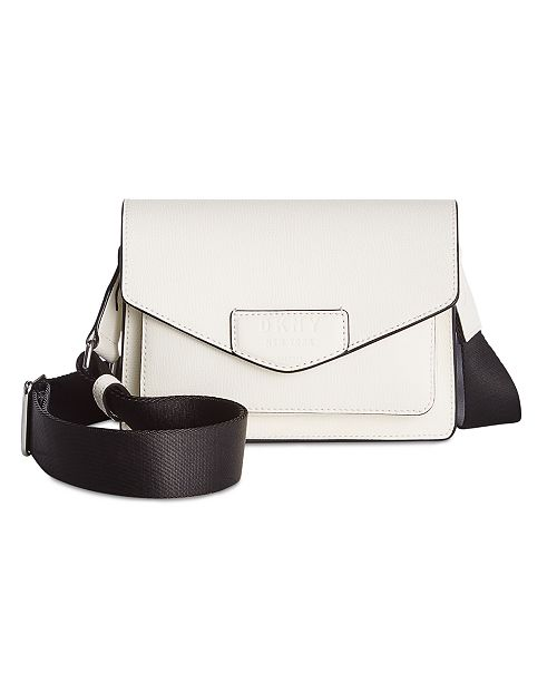 DKNY Sullivan Leather Flap Crossbody, Created for Macy's