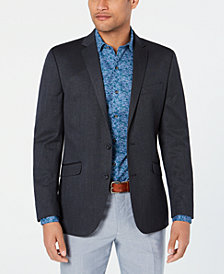 Kenneth Cole Reaction Men's Slim-Fit Stretch Navy/Blue Tic Sport Coat