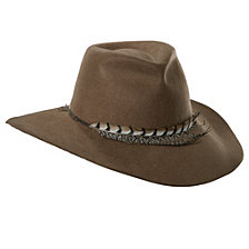 Scala Wool Felt Safari Hat with Feather