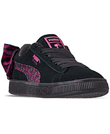 Puma Little Girls' Suede Barbie Casual Sneakers from Finish Line