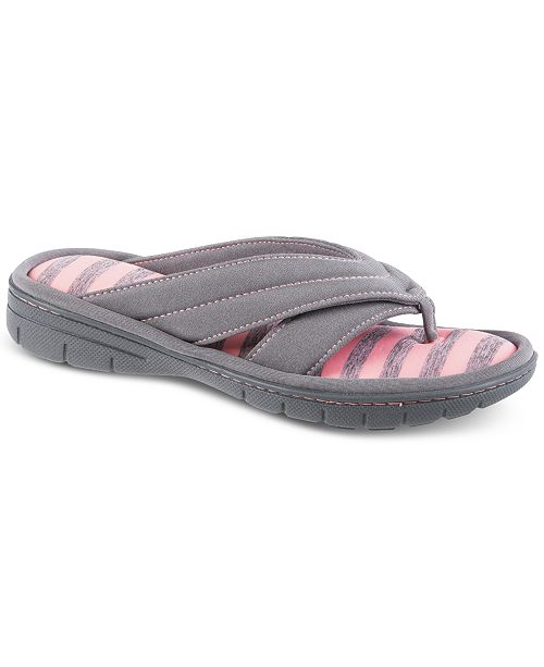 Isotoner Signature Isotoner Women's Satin Jackie Thong Slippers, Online Only