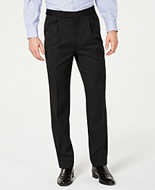 Unlisted Black Solid Pleated Slim-Fit Dress Pants