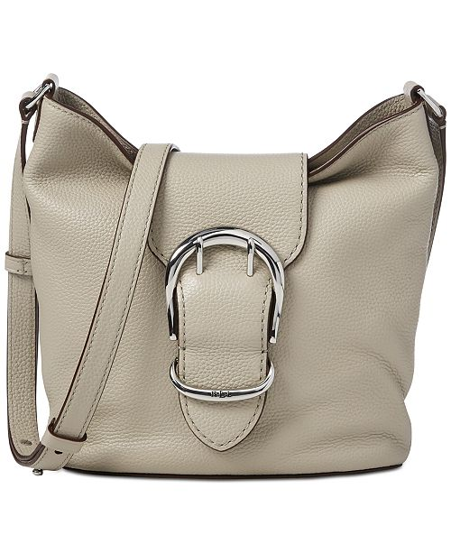 4e261ea8d70f ... Lauren Ralph Lauren Cornwall Pebbled Leather Bucket Crossbody ...