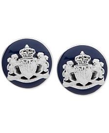 Lauren Ralph Lauren Crest & Colored Enamel Stud Earrings
