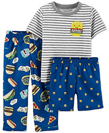 Carter's Toddler Boys 3-Pc. Midnight Snacker Pajamas Set