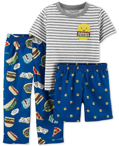 093b05a5a46e Carter s Toddler Boys 3-Pc. Midnight Snacker Pajamas Set   Reviews ...