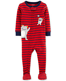 Carter's Toddler Boys Cotton Striped Monster Pajamas