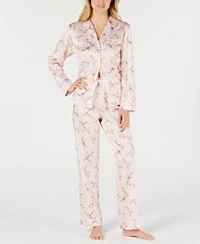 Charter Club Long-Sleeve Notch Collar Top & Pajama Pants Sleep Separates, Created for Macy's