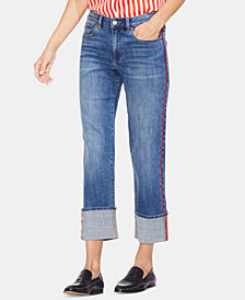 Vince Camuto Cuffed Straight-Leg Jeans