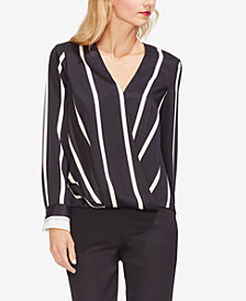 Vince Camuto Striped Surplice Shirt
