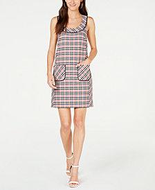 Trina Turk Booked Houndstooth-Print Sheath Dress