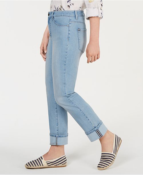 Charter Club Tummy-Control Cuffed Jeans, Created for Macy's