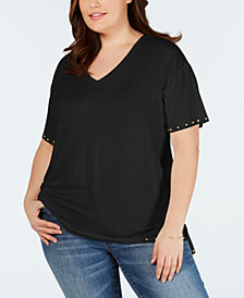 One A Plus Size Studded T-Shirt