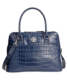 Giani Bernini Crocodile Dome Satchel, Created for Macy's