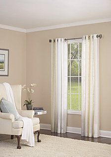 "Grovegat Grommet Single Curtain Panel, Gold, 54 x 95"""