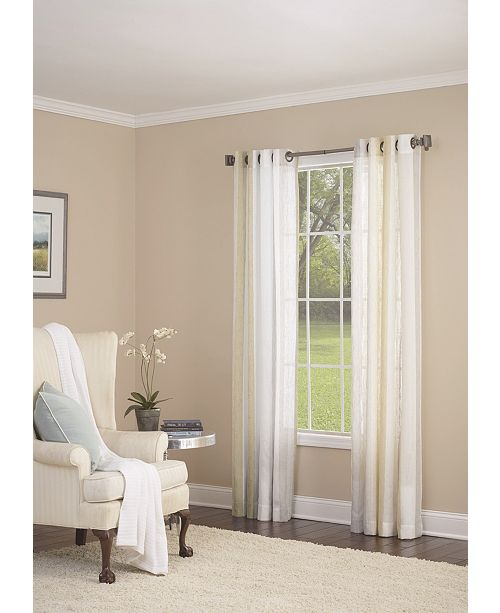 "Nanshing Grovegat Grommet Single Curtain Panel, Gold, 54 x 95"""