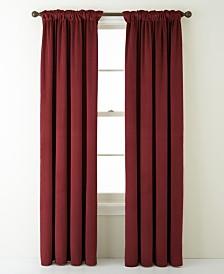 "Velvet Solid Hidden Tab/Rod Pocket Single Curtain Panel, Wine, 54 x 84"""