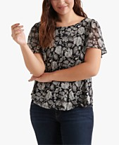 bf40e35cbefeb Lucky Brand Plus Size Floral-Print Back-Cutout Top