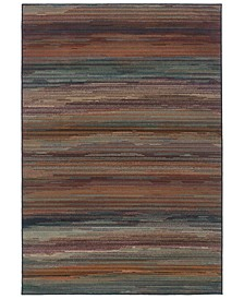 "CLOSEOUT!  Adrienne 4138A Multi/Brown 7'10"" x 10'10"" Area Rug"