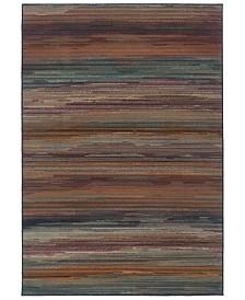 "CLOSEOUT! Oriental Weavers  Adrienne 4138A Multi/Brown 6'7"" x 9'6"" Area Rug"