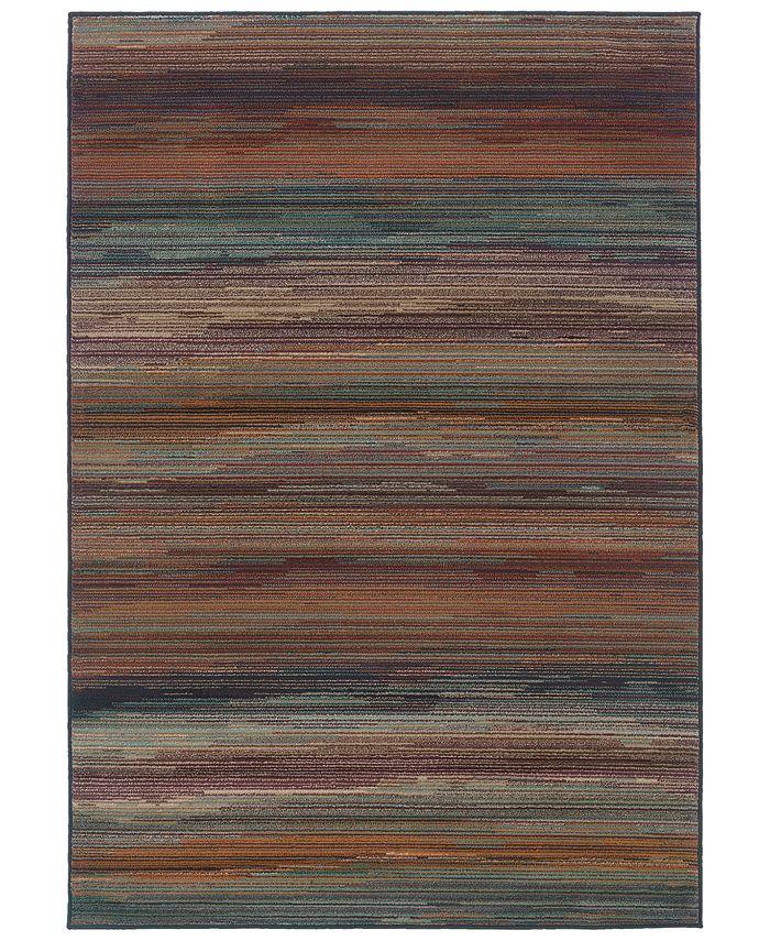 "Oriental Weavers - Adrienne 4138A Multi/Brown 7'10"" x 10'10"" Area Rug"