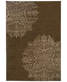 "CLOSEOUT!  Adrienne 4174D Brown/Stone 6'7"" x 9'6"" Area Rug"