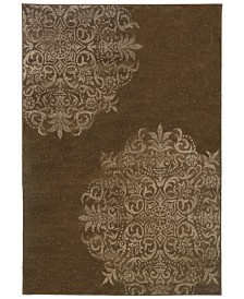 """CLOSEOUT! Oriental Weavers  Adrienne 4174D Brown/Stone 1'10"""" x 3'3"""" Area Rug"""