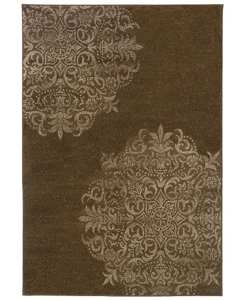 "Oriental Weavers CLOSEOUT!  Adrienne 4174D Brown/Stone 3'10"" x 5'5"" Area Rug"