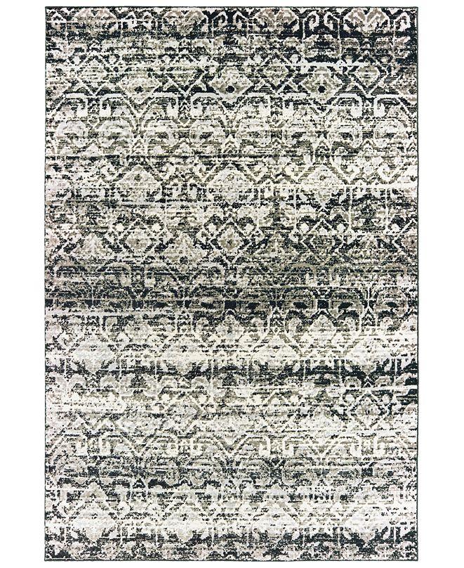 """Oriental Weavers Bowen 042H2 Gray/Ivory 3'10"""" x 5'5"""" Area Rug"""