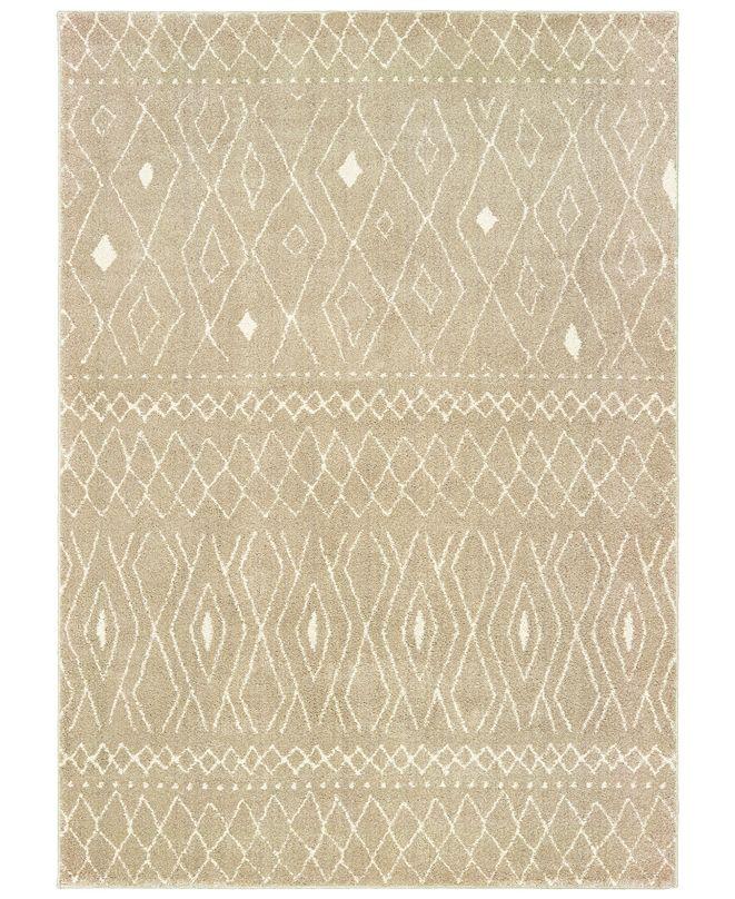 "Oriental Weavers Carson 9665B Sand/Ivory 3'10"" x 5'5"" Area Rug"