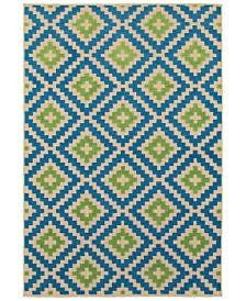 """Oriental Weavers Cayman 2063Z Sand/Blue 5'3"""" x 7'6"""" Indoor/Outdoor Area Rug"""