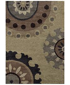 """Oriental Weavers Covington Shag 4926J Beige/Midnight 5'3"""" x 7'6"""" Area Rug"""