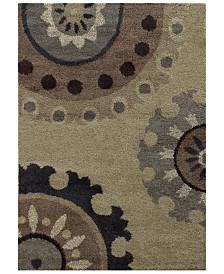"""Oriental Weavers Covington Shag 4926J Beige/Midnight 6'7"""" x 9'6"""" Area Rug"""
