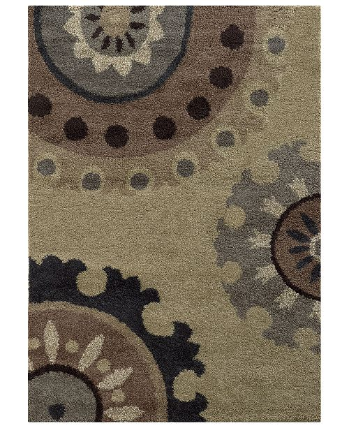 "Oriental Weavers Covington Shag 4926J Beige/Midnight 9'10"" x 12'10"" Area Rug"