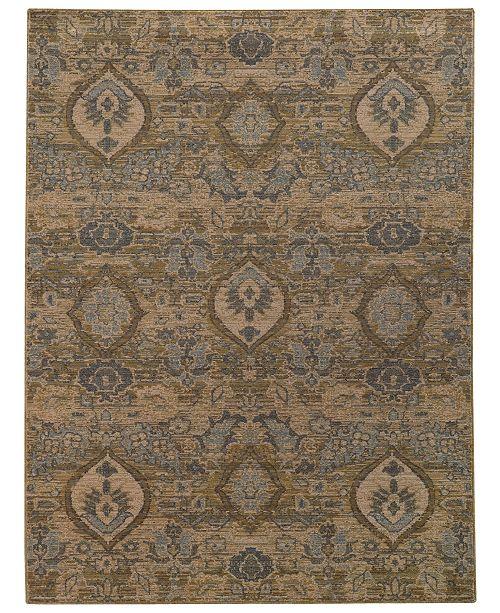 "Oriental Weavers Heritage 4925W Ivory/Blue 6'7"" x 9'6"" Area Rug"
